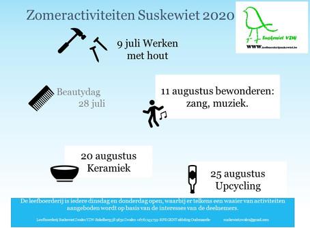 Zomeractiviteiten bij Suskewiet.