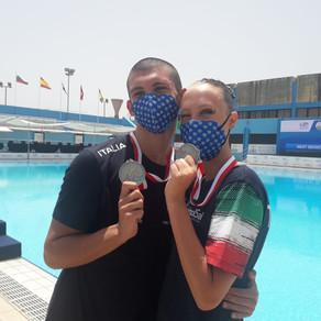 Eurojuniors 2021 Syncro, doppio argento con la nostra Claudia Laveglia