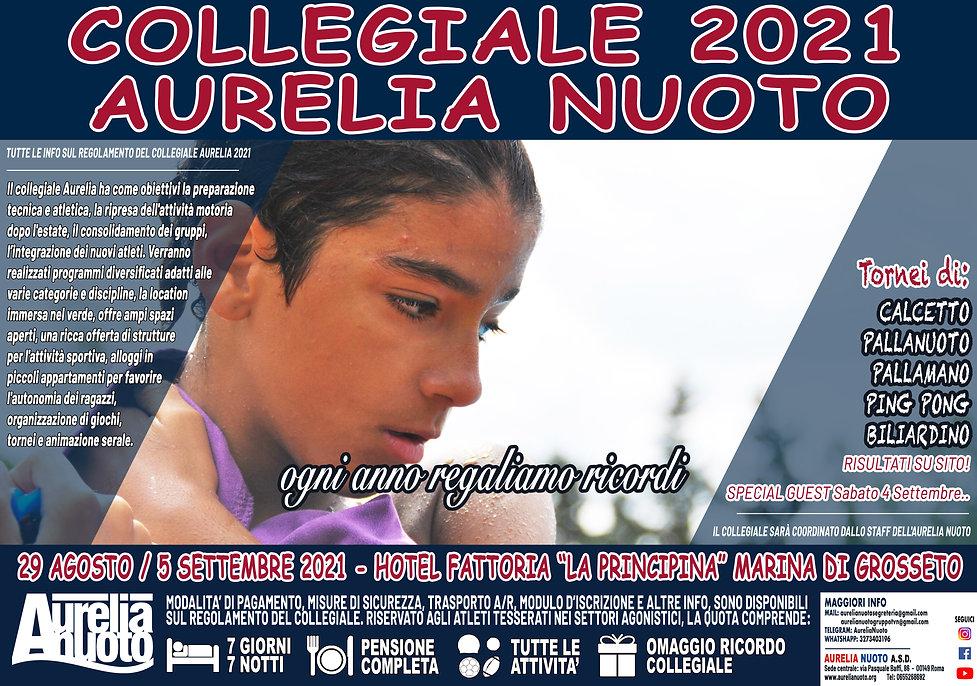 COLLEGIALE AURELIA NUOTO 2021 - Locandin