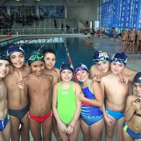 Prima prova dei nostri piccoli campioni esordienti B, in acqua il futuro dell'Aurelia Nuoto!