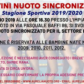 Provini di Nuoto Sincronizzato! Vi aspettiamo il 1 giugno in sede!