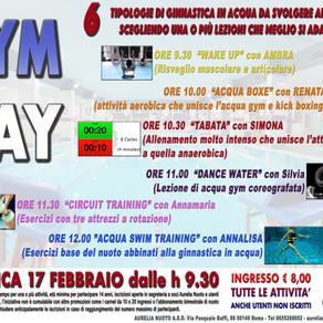 Gym Day Aurelia Nuoto - Domenica 17 febbraio ore 9.30!!