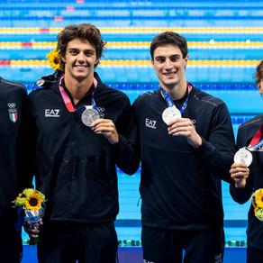 Staffetta 4x100 stile libero, superlativo argento dell'Italia!
