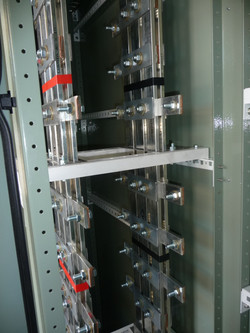 Modular busbar for a DC link box