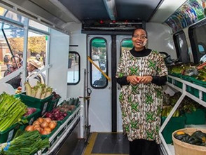 Bus Converted into Mobile Food Market Brings Fresh Produce To Low-Income Neighborhoods