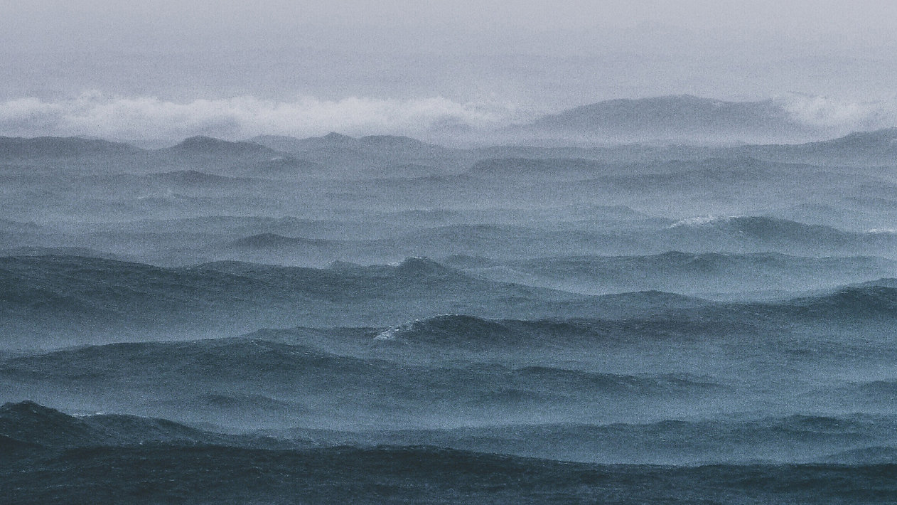 Sea stormy