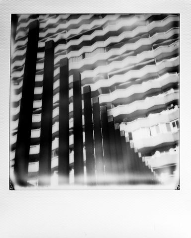 Rafael Gonzalez Black and White Polaroid film SX70