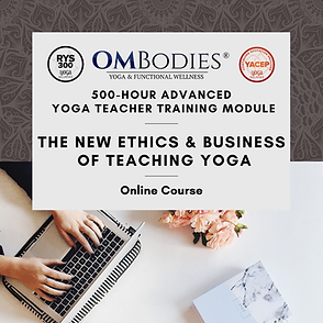 new ethics and business of teaching yoga
