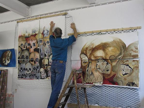 Paul in the studio