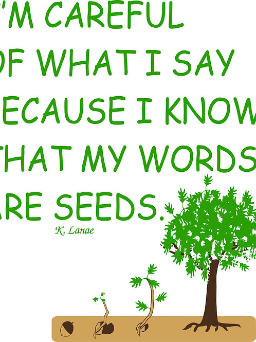 Words Are Seeds Magnet
