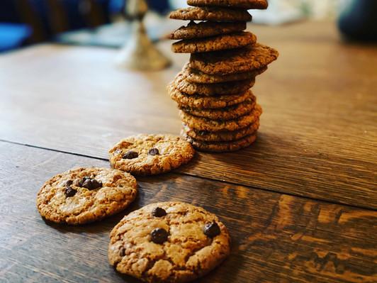 Suklaakeksit kookoksella (gluteenittomia , tietenkin -:)