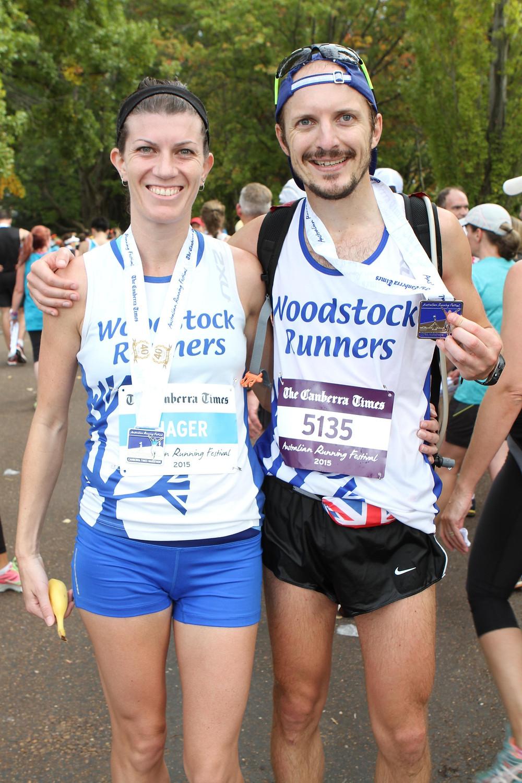 Finish of the Canberra marathon