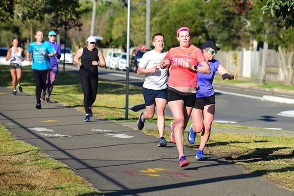 Image of me running parkrun after giving birth