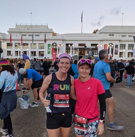 Image of the start of the Canberra Marathon