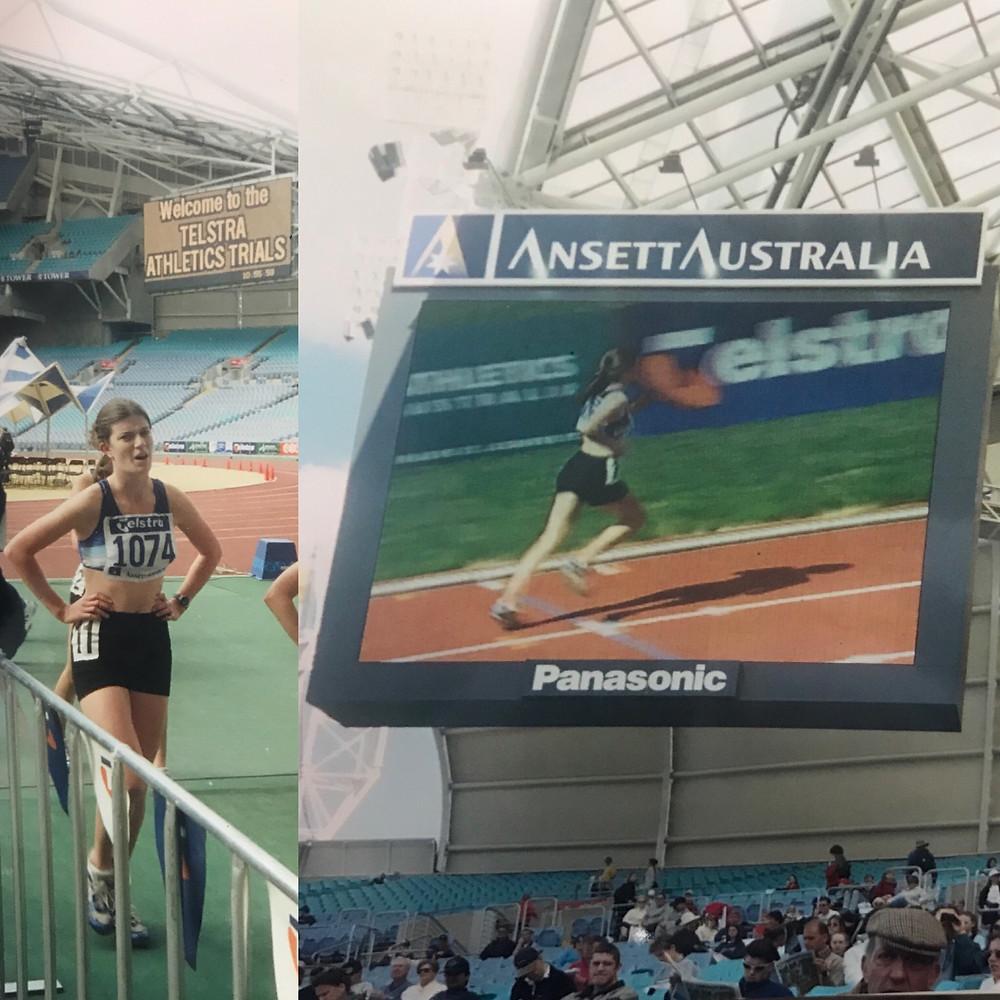 Image of my running in the 2000 Olympic Stadium