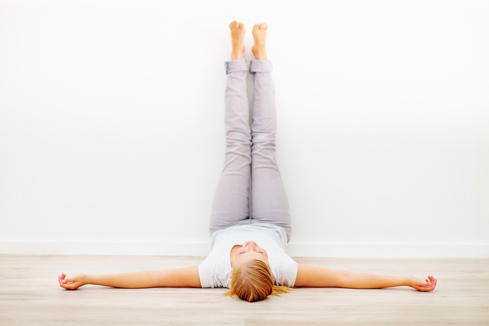 Image of legs up the wall stretch