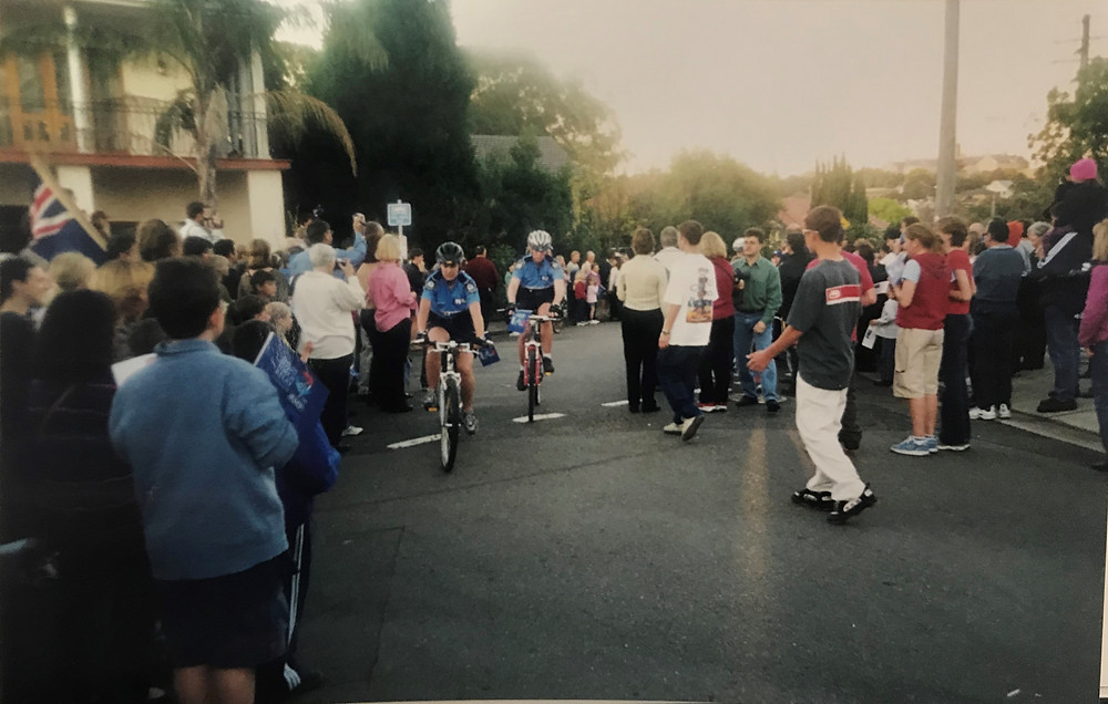 Image of the changeover point in Gladesville the 2000 Olympic Torch Relay