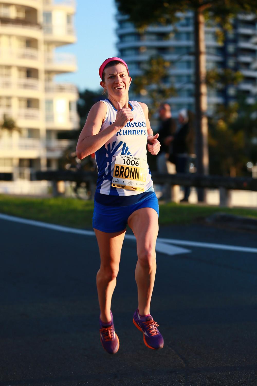 Me running the Gold Coast Half Marathon in 2017