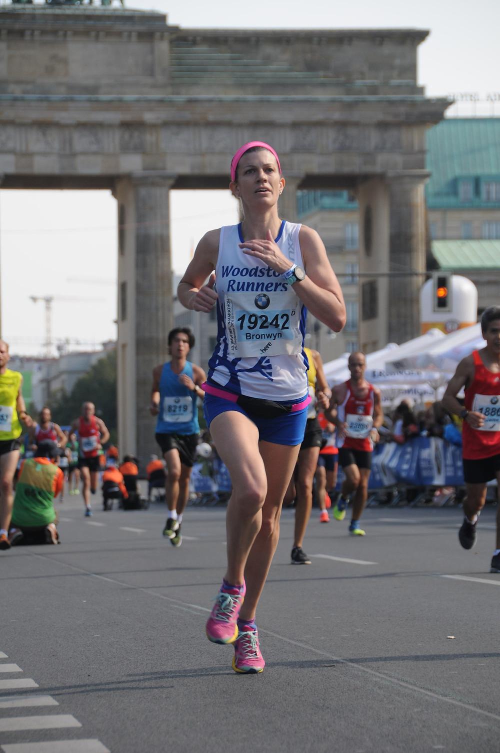 Image of Running through the Brandenburg Gate at the end of the 2016 Berlin Marathon