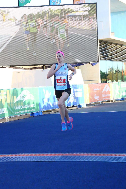Image of me finishing the Gold Coast Half Marathon