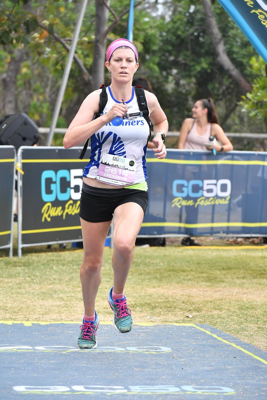 Image of me finishing a race