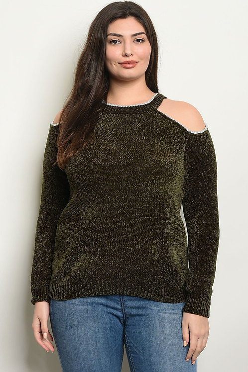 Chenille +Size Sweater (2 colors)