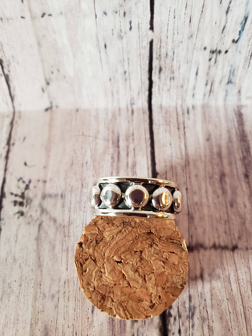 Sterling Silver Dotty Band