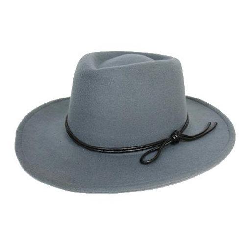 Women's Jay Grey Homburg Vegan Hat