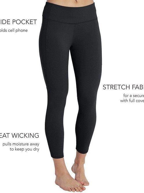 CAPRI Black Single Thigh Pocket Legging