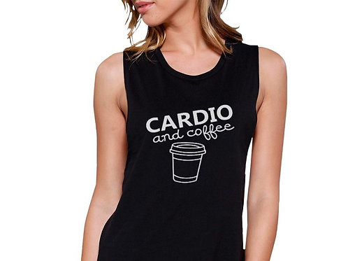 Cardio & Coffee Gym Sleeveless Tank Top