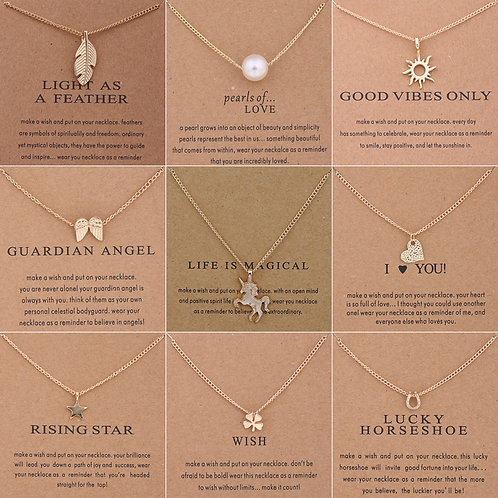 """Reminders"" Pendant Necklaces"