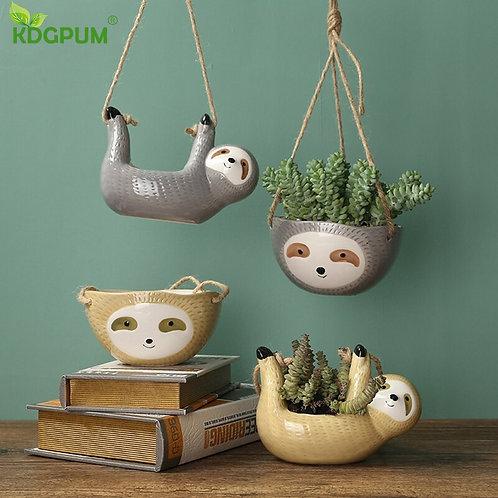 Celebrate Your Inner Sloth Flower Pot