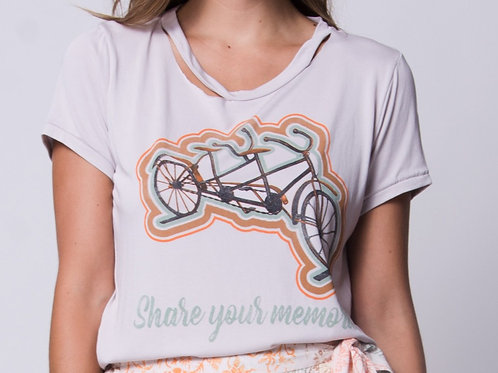 Share Your Memories Distressed Tee