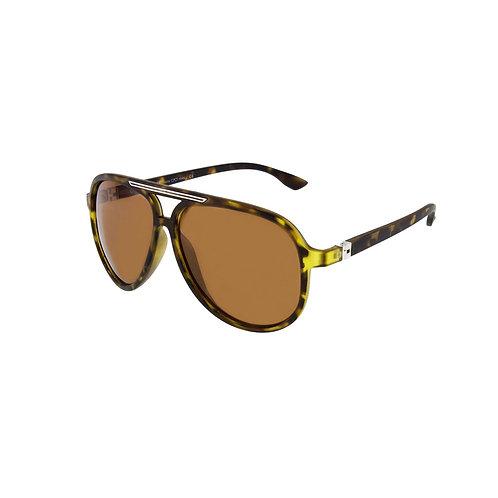 Retro New York UV Protect/Polarized  Sunglasses in Havana