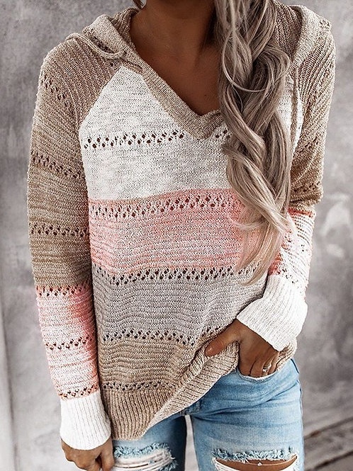 Hooded Casual Knit Pullover (8 colors)