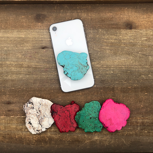 Natural Stone Phone Grips (5 colors)