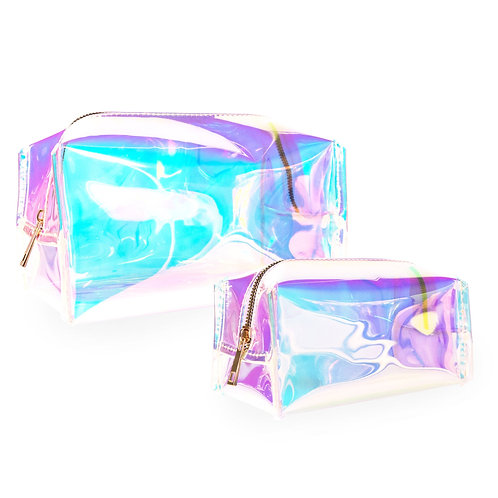 Holographic Jelly Makeup Bag Set