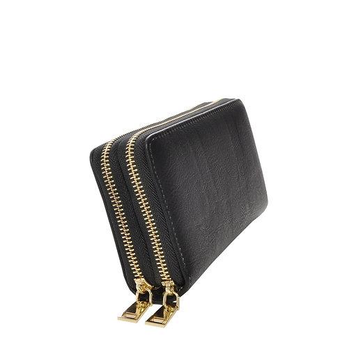 Nancy Black Vegan Leather Wallet