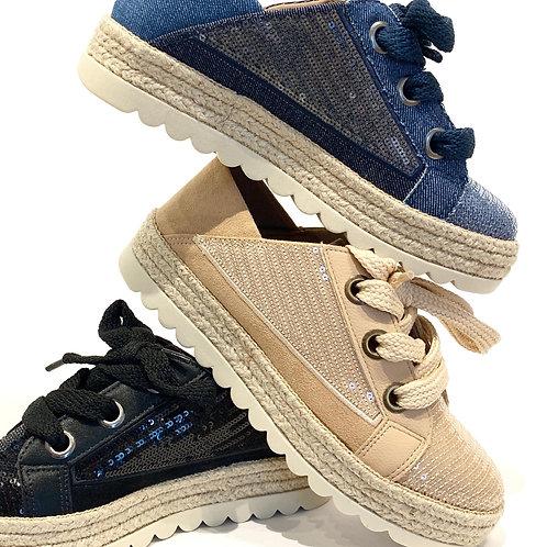 Suede & Sequins Sneaker