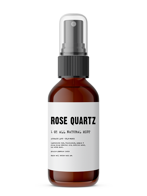 Rose Quartz Meditation Mist - Made With All Organic Ingredients