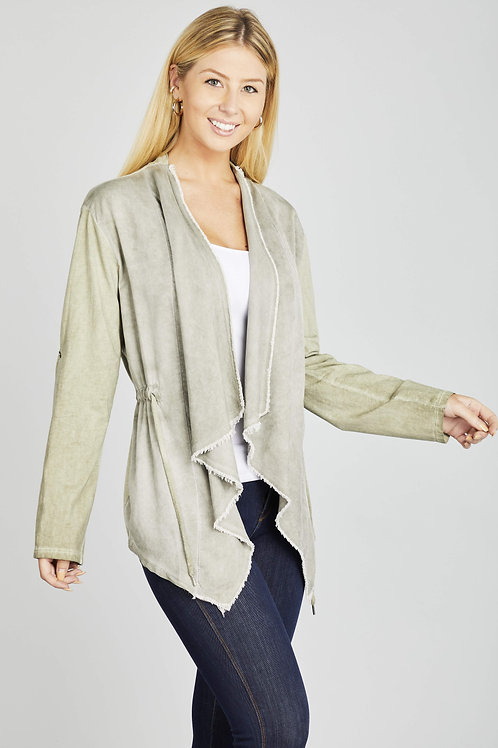 Washed Flutter Cardigan