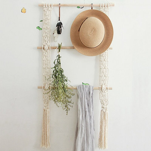 Macrame Wall Hanging Rack