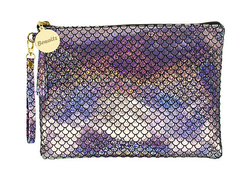 Mermaid Makeup Pouch Small Silver