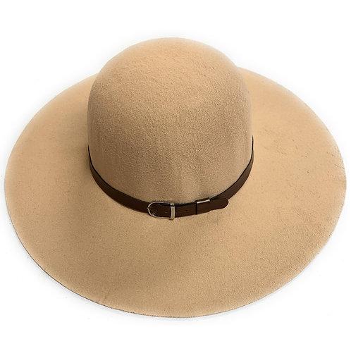 Women's Madison Beige Fedora Vegan Hat