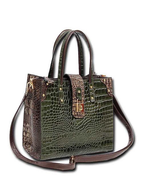 Isla Genuine Embossed Leather Go-Anywhere Bag