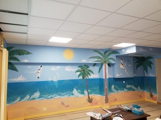 Peinture murale restaurant