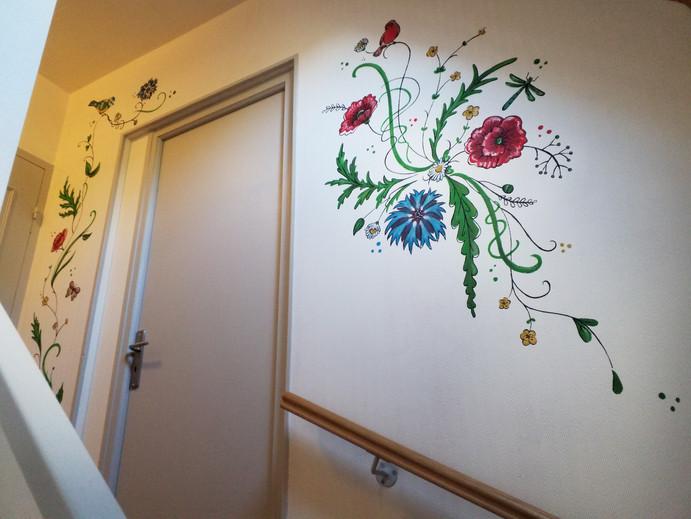 peinture murale printemps