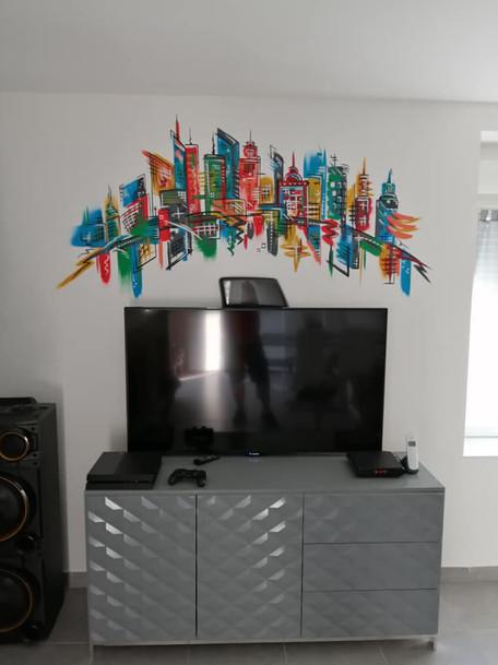peinture murale New-York
