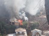 Incendio Declarado en cerro Rocuant de Valparaíso