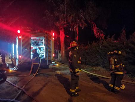Incendio Estructural Afecta a una Vivienda en Laguna Verde